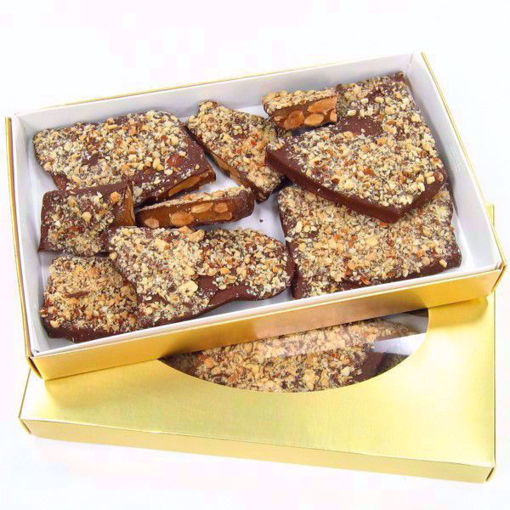 Almond English Toffee 1 lb Gift Box by Sweet Traders