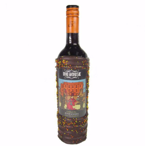 Chocolate Dipped Wine Bottle Big House Zinfandel by Sweet Traders