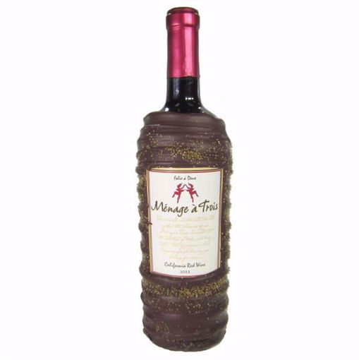 Chocolate Dipped Wine Bottle Gift Ménage à Trois Red Wine by Sweet Traders