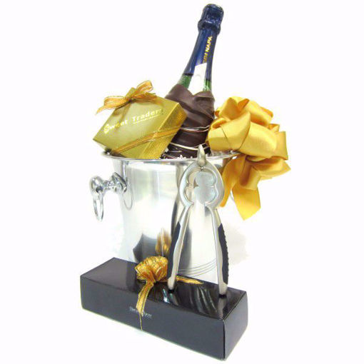 Chocolate Dipped Mumm Champagne Gift Basket by Sweet Traders
