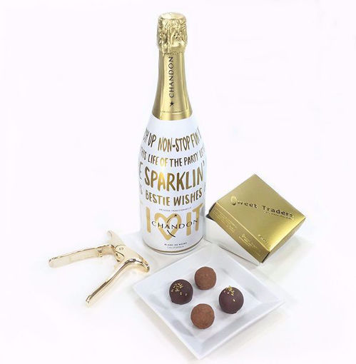 Chandon Champagne Gift Set With Chocolate Truffles and Pliers