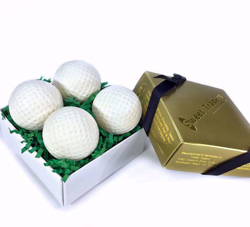 Solid Chocolate Golf Balls 4 piece by Sweet Traders
