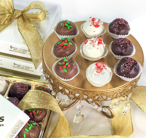 Christmas Cake Truffles Gift By Sweet Traders