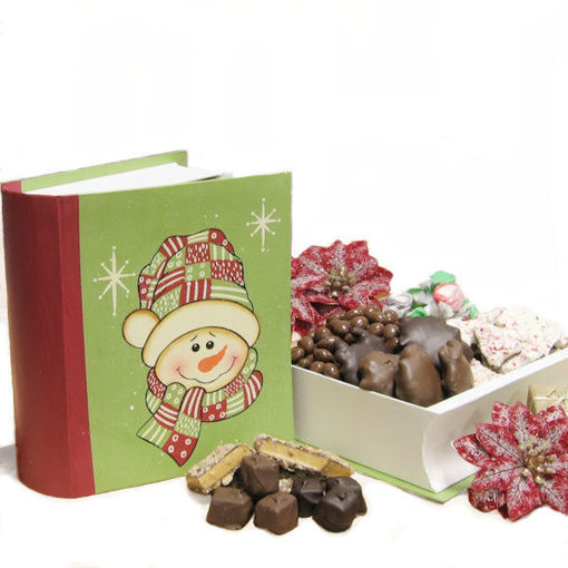 Vintage Book Style Gift Box Packed With Christmas Chocolates